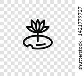 water lily icon from house... | Shutterstock .eps vector #1421779727