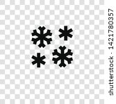 snowflake icon from... | Shutterstock .eps vector #1421780357