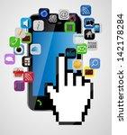 universal design mobile phone... | Shutterstock .eps vector #142178284