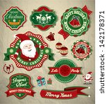 collection of vintage retro... | Shutterstock .eps vector #142178371