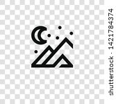 mountain icon from... | Shutterstock .eps vector #1421784374