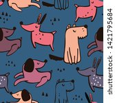 dog pattern is perfect for... | Shutterstock .eps vector #1421795684