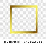 gold shiny glowing frame with... | Shutterstock .eps vector #1421818361