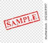 vector red scratch rubber stamp ...   Shutterstock .eps vector #1421819597