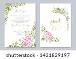 beautiful wedding and... | Shutterstock .eps vector #1421829197