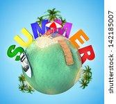 summer mini planet   tropical... | Shutterstock . vector #142185007