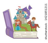 book and character of fairytale ... | Shutterstock .eps vector #1421851211