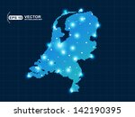 pixel netherlands map with spot ...