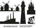 town and industry constructions | Shutterstock .eps vector #142191097