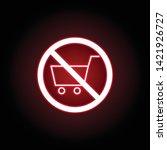 forbidden shopping car icon in...