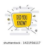 interesting fact background.... | Shutterstock .eps vector #1421936117
