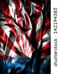 usa style background on wavy... | Shutterstock . vector #142194385