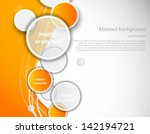 orange background with circles | Shutterstock .eps vector #142194721