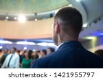 security on public event.... | Shutterstock . vector #1421955797