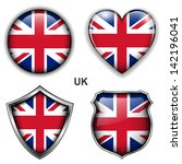 united kingdom  uk flag icons ...   Shutterstock .eps vector #142196041