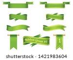 vector ribbon in green for...   Shutterstock .eps vector #1421983604