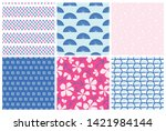florals and abstract... | Shutterstock .eps vector #1421984144