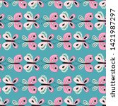 seamless pattern with beautiful ... | Shutterstock .eps vector #1421987297