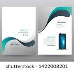 template annual report brochure ... | Shutterstock .eps vector #1422008201