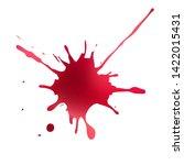abstract vector flowing blot.... | Shutterstock .eps vector #1422015431