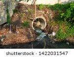 drain pipe or effluent or sewer ...   Shutterstock . vector #1422031547
