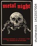 metal night gig poster flyer...   Shutterstock .eps vector #1422037004