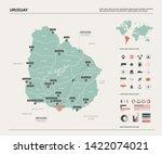 vector map of uruguay. country... | Shutterstock .eps vector #1422074021