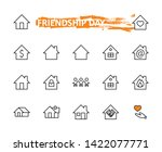 set of house vector line icons. ... | Shutterstock .eps vector #1422077771