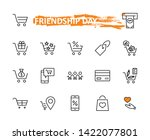 shopping cart vector line icons ... | Shutterstock .eps vector #1422077801