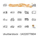 truck set of transport vector...   Shutterstock .eps vector #1422077804