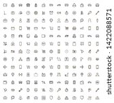 line icon set. collection of...