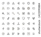 big data analytics icon set....