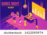 party isometric concept  dj... | Shutterstock .eps vector #1422093974