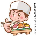 vector illustration of cartoon... | Shutterstock .eps vector #1422095177