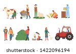 people farming vector  man and... | Shutterstock .eps vector #1422096194