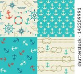 four seamless patterns of... | Shutterstock .eps vector #142209991