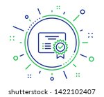 certificate line icon. verified ... | Shutterstock .eps vector #1422102407