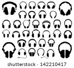 Set Of Silhouettes Of...