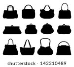 Silhouettes Of Handbags Vector