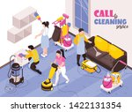 cleaning service isometric... | Shutterstock .eps vector #1422131354