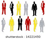 different vector men silhouettes | Shutterstock .eps vector #14221450