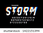 thunder storm style font design ... | Shutterstock .eps vector #1422151394