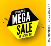 black and yellow mega sale... | Shutterstock .eps vector #1422151847