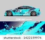 car wrap decal design concept....   Shutterstock .eps vector #1422159974