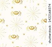 spider with cobweb golden... | Shutterstock .eps vector #1422168374