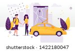 car sharing and rent service... | Shutterstock .eps vector #1422180047