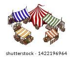 vector isometric house. old... | Shutterstock .eps vector #1422196964