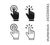 hand cursor icons click set...   Shutterstock .eps vector #1422206561