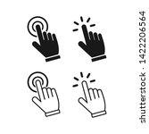 hand cursor icons click set... | Shutterstock .eps vector #1422206564