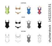 vector design of bikini and...   Shutterstock .eps vector #1422223151